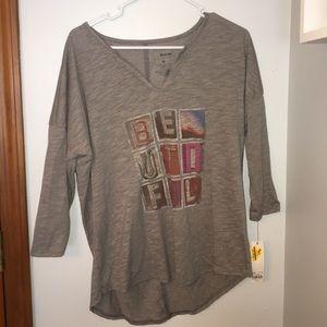 "NWT Soft loose T-shirt ""BEAUTIFUL"""